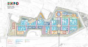 La mappa dell'Expo