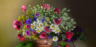 bouquet di fiori e erbe spontanee