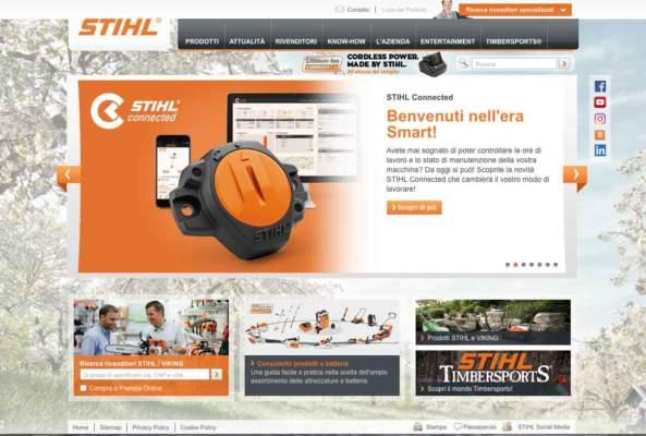 il sito web di stihl