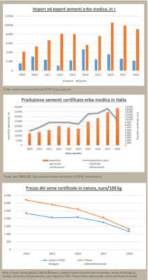 grafici sul mercato dei semi di erba medica