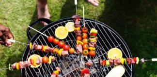grigliata con barbecue portatile
