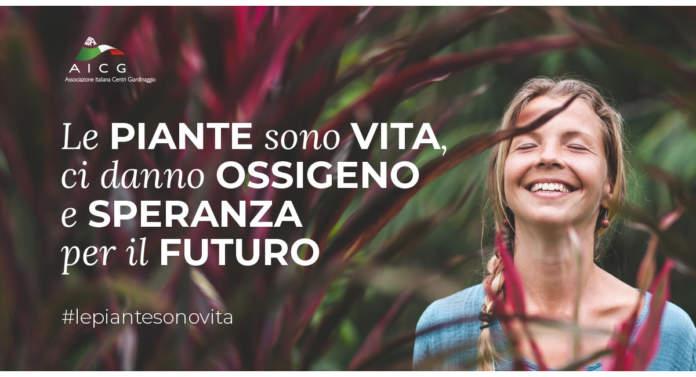 campagna social AICG Le piante sono vita